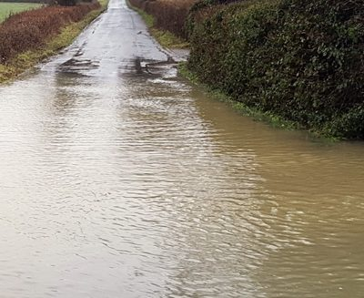 Flooding around Stambourne and Finchingfield