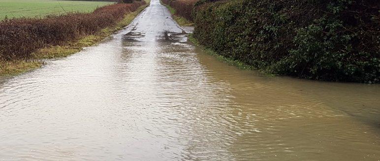 Flooding around Stambourne and Finchingfield