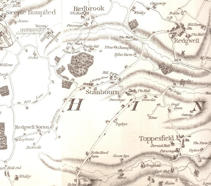 Stambourne map from 1777