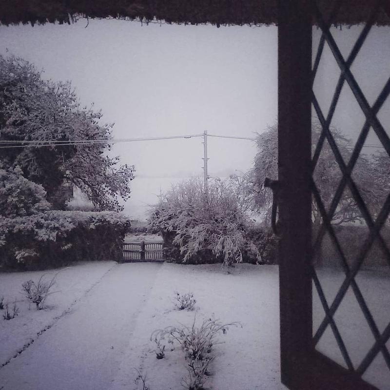Snowy view, Stambourne - Winter 2021