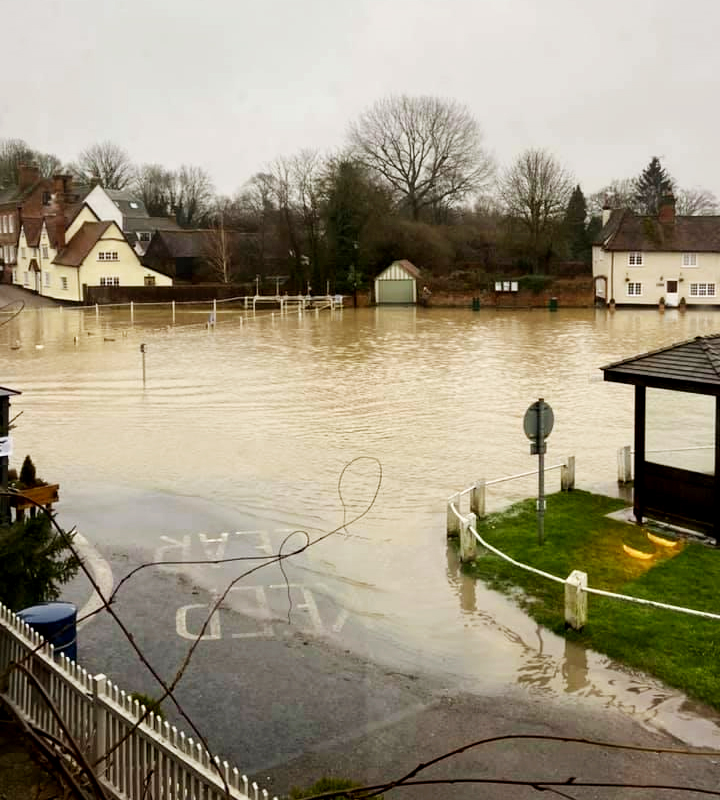 Flood in Finchingfield
