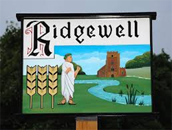 Ridgewell Village sign