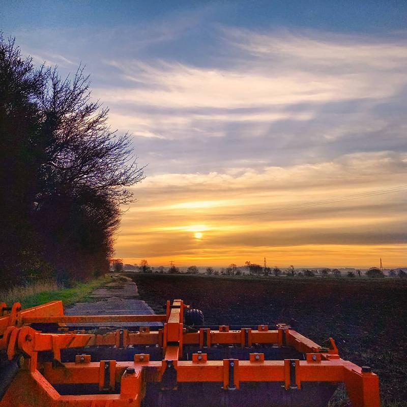 Sunrise over icy fields, Stambourne Green - Winter 2021