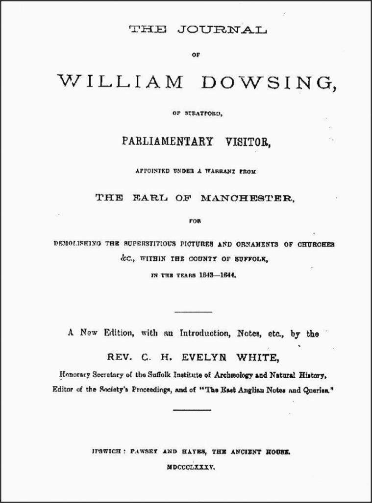 Cover of William Dowsing's Journal
