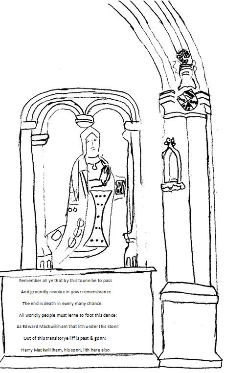 An imaginative reconstruction of the MackWilliam tomb