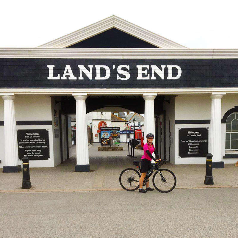 Connie James epic solo ride from Land's End to John o'Groats fundraising for Backup